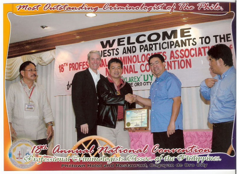DR. CRISANTO M. NULUD MOST OUTSTANDING CRIMINOLOGIST OF THE PHILS., 2008